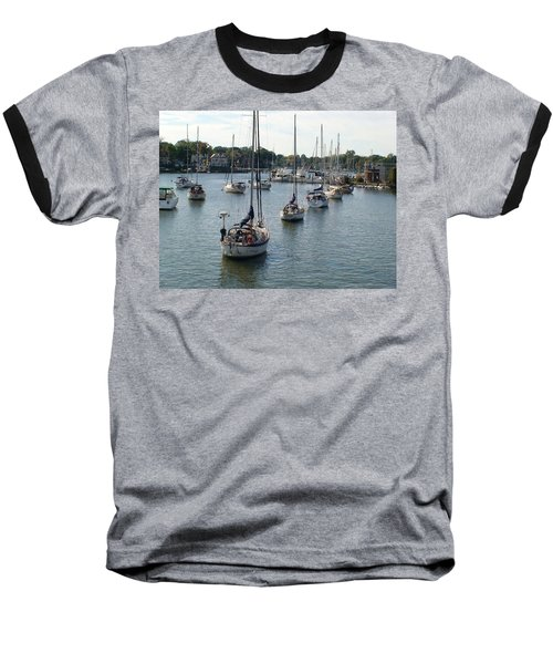 Baseball T-Shirt featuring the photograph At Anchor by Charles Kraus