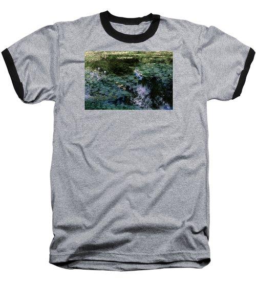 Baseball T-Shirt featuring the photograph At Claude Monet's Water Garden 10 by Dubi Roman