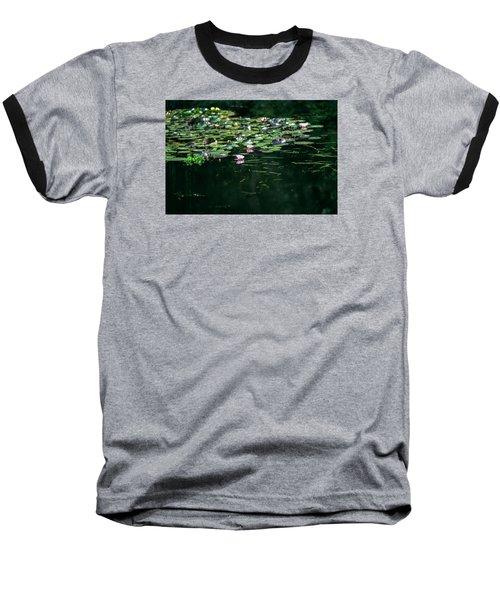 Baseball T-Shirt featuring the photograph At Claude Monet's Water Garden 8 by Dubi Roman