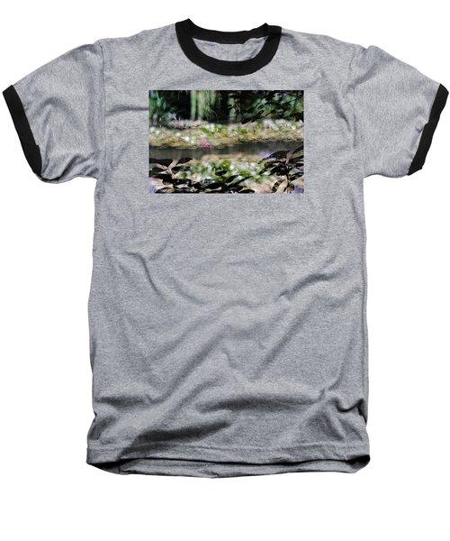 Baseball T-Shirt featuring the photograph At Claude Monet's Water Garden 9 by Dubi Roman