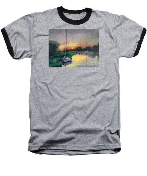 Baseball T-Shirt featuring the painting At Ease Sold by Nancy Parsons