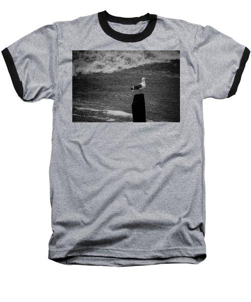 Baseball T-Shirt featuring the photograph At His Post by Lora Lee Chapman