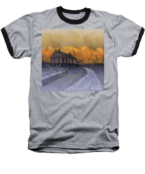 Baseball T-Shirt featuring the digital art At Just Dawn by Lois Bryan