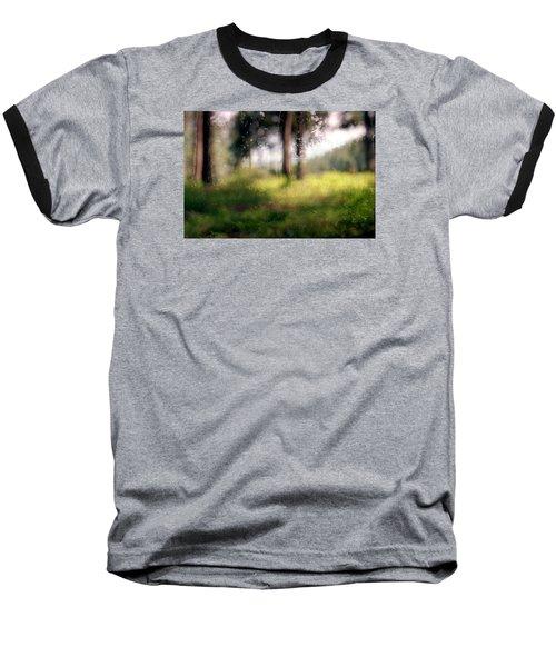 At Menashe Forest Baseball T-Shirt by Dubi Roman