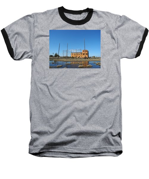 Baseball T-Shirt featuring the photograph At N T Long Lines Historic Site by Sami Martin