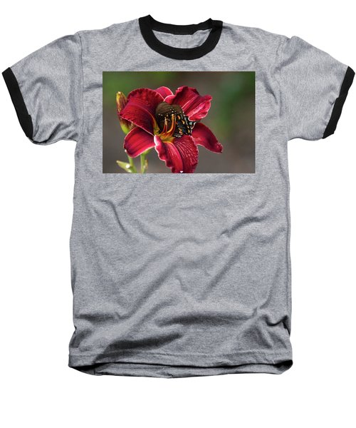 At One With The Orchid Baseball T-Shirt