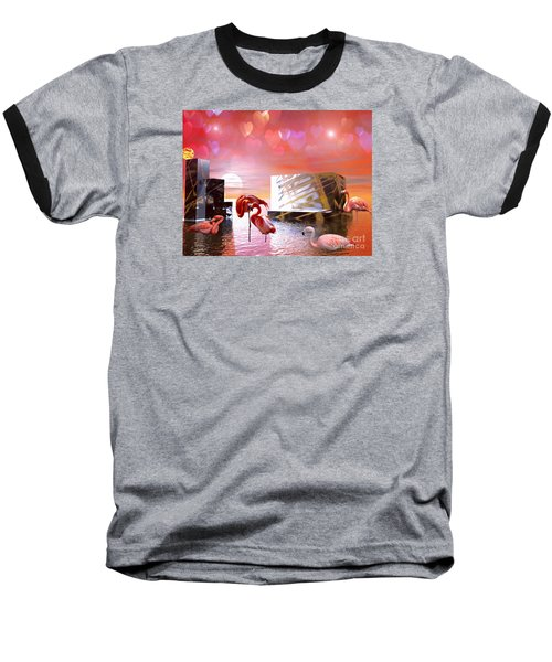 Baseball T-Shirt featuring the digital art At Peace by Jacqueline Lloyd