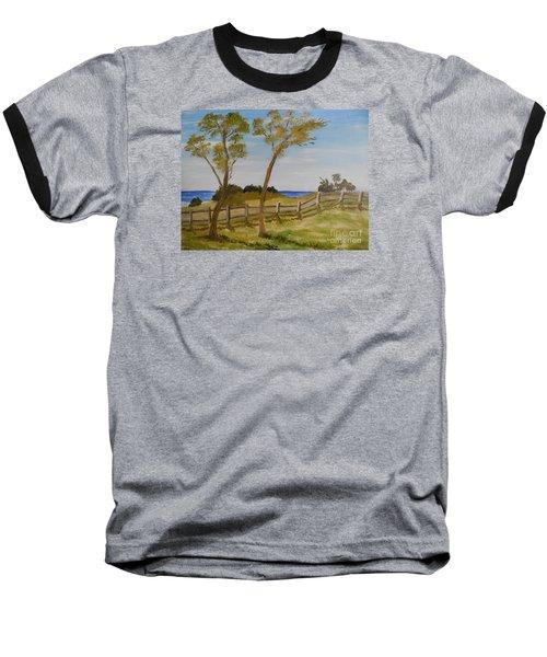 At Ruby's Bulli Baseball T-Shirt by Pamela  Meredith