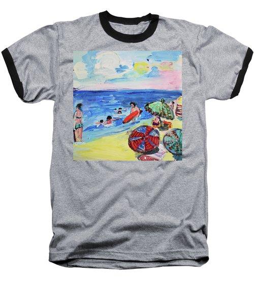 At The Beach Baseball T-Shirt by Amara Dacer