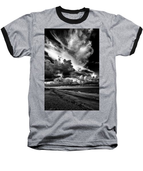 At The Beach Baseball T-Shirt by Kevin Cable