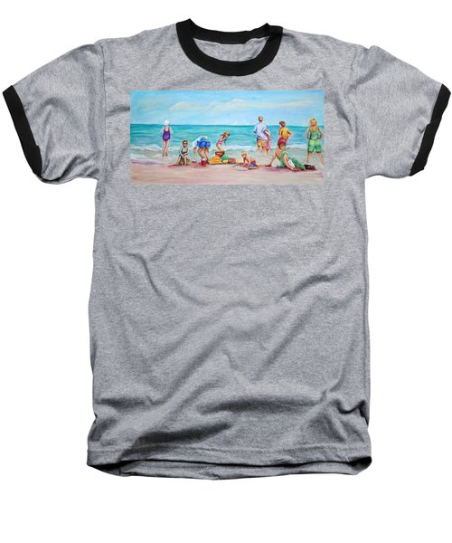 At The Beach Baseball T-Shirt by Patricia Piffath