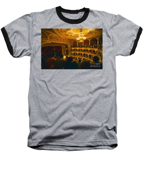 At The Budapest Opera House Baseball T-Shirt by Madeline Ellis