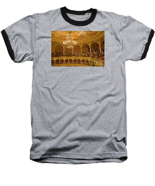 At The Budapest Opera Baseball T-Shirt by Madeline Ellis