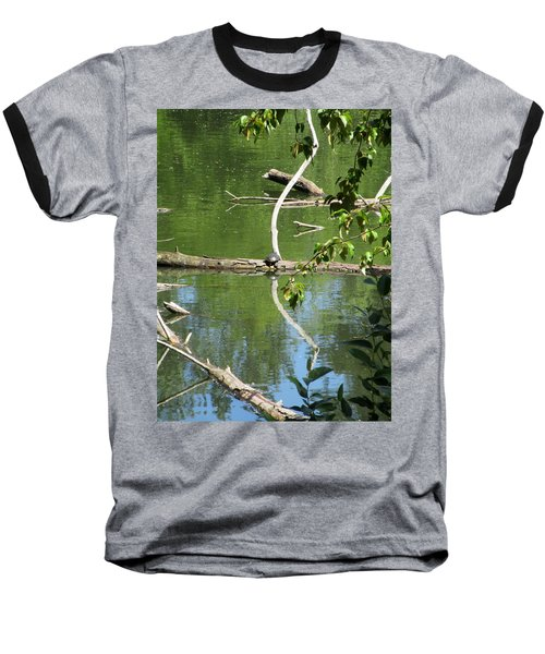At The Crossroads Baseball T-Shirt by Marie Neder