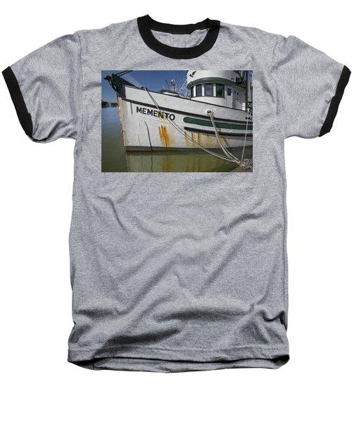 Baseball T-Shirt featuring the photograph At The Dock by Elvira Butler