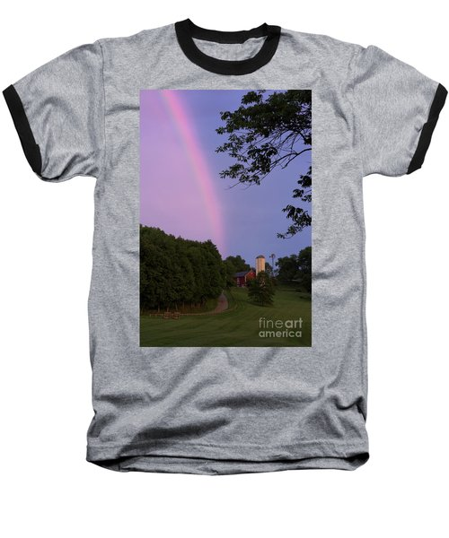 At The End Of The Rainbow Baseball T-Shirt by Nicki McManus
