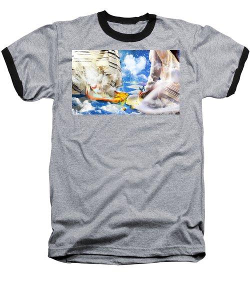 At The Feet Of Jesus Baseball T-Shirt