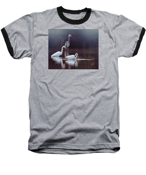Baseball T-Shirt featuring the photograph At The Fishing Pond by Susi Stroud