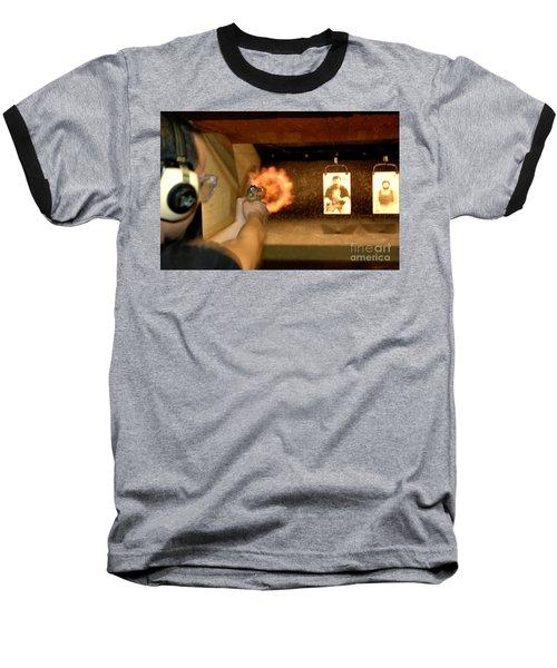 At The Gun Gange Baseball T-Shirt by Micah May