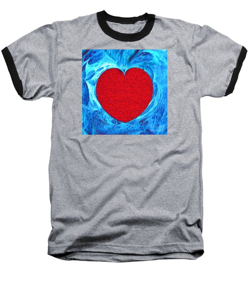 At The Heart Of The Matter Baseball T-Shirt by Merton Allen