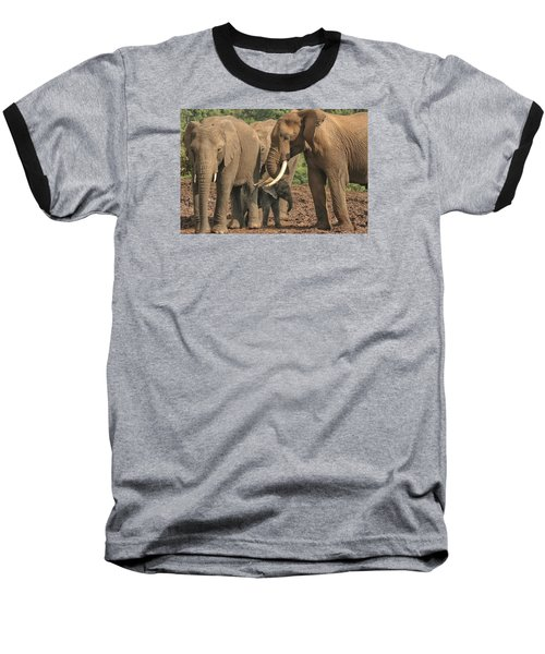 Baseball T-Shirt featuring the photograph At The Salt Lick by Gary Hall