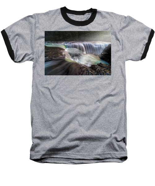 At The Top Of Lower Lewis River Falls Baseball T-Shirt