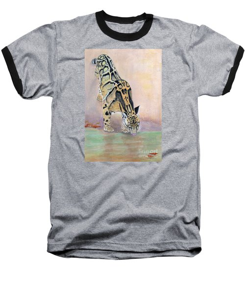 At The Waterhole - Painting Baseball T-Shirt by Veronica Rickard