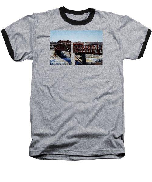 At Three Bridges Park Baseball T-Shirt by David Blank