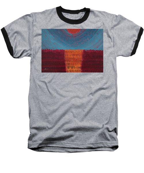 At World's Beginning Original Painting Baseball T-Shirt