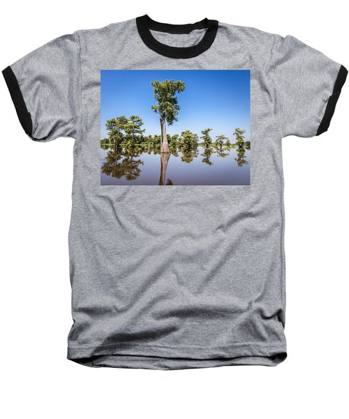 Atchafalaya Cypress Tree Baseball T-Shirt