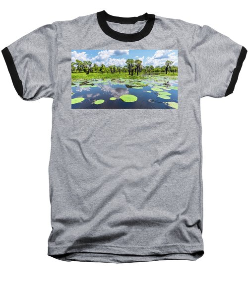 Atchaflaya Basin Reflection Pool Baseball T-Shirt