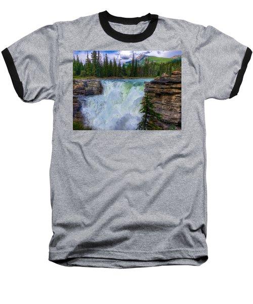 Athabasca Falls, Ab  Baseball T-Shirt by Heather Vopni