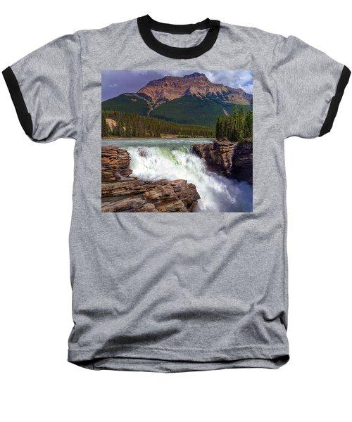 Athabasca Falls Baseball T-Shirt by Heather Vopni
