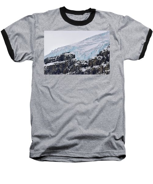 Athabasca Glacier No. 80-1 Baseball T-Shirt