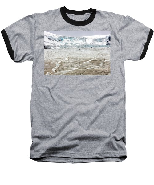 Baseball T-Shirt featuring the photograph Athabasca Glacier With Guided Expedition by Pierre Leclerc Photography
