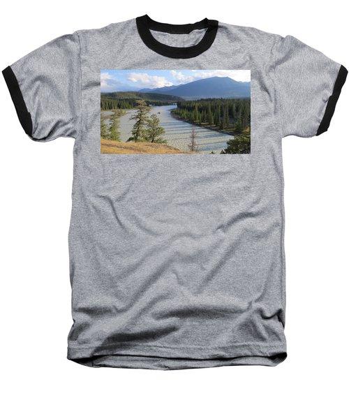 Athabasca River - Jasper Baseball T-Shirt