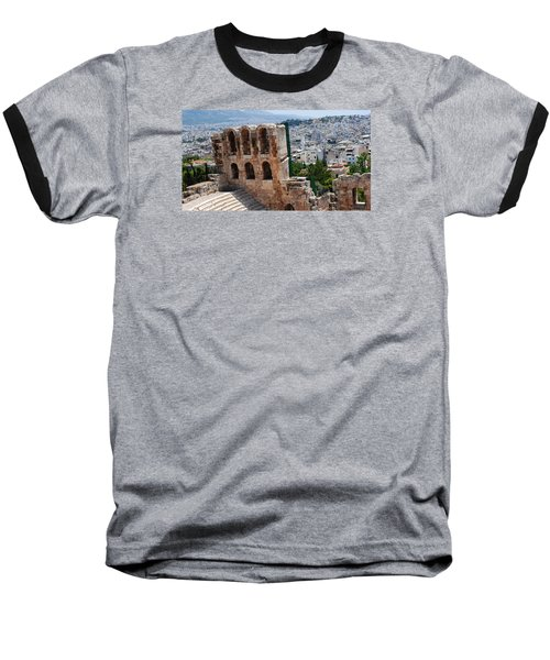 Baseball T-Shirt featuring the photograph Athens From Acropolis II by Robert Moss