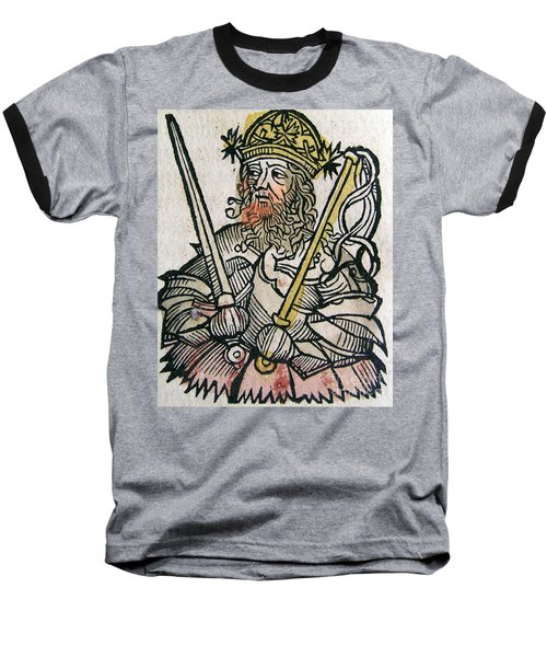 Atilla The Hun, Nuremberg Chronicle Baseball T-Shirt