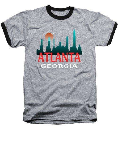 Atlanta Georgia Design Baseball T-Shirt