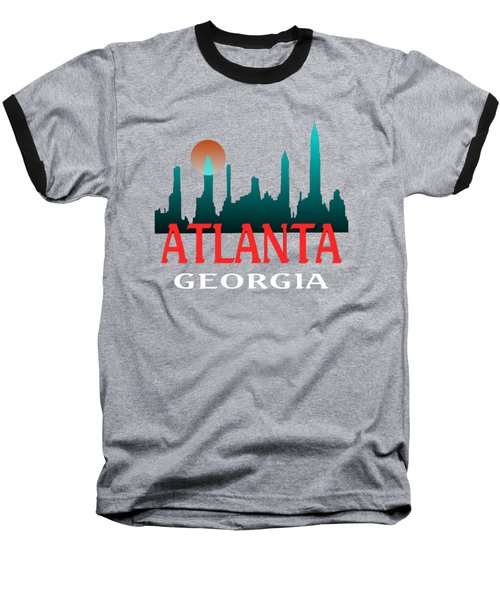 Atlanta Georgia Tshirt Design Baseball T-Shirt by Art America Gallery Peter Potter