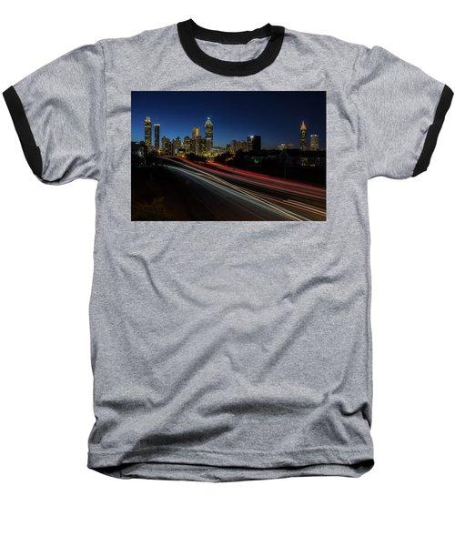 Atlanta Skyline 2 Baseball T-Shirt
