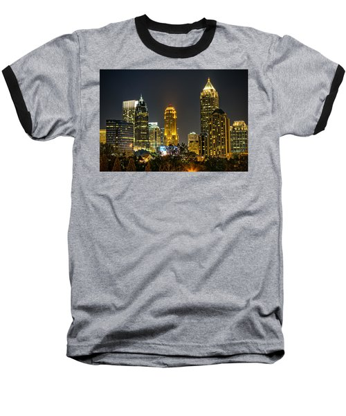 Atlanta Skyscrapers  Baseball T-Shirt by Anna Rumiantseva