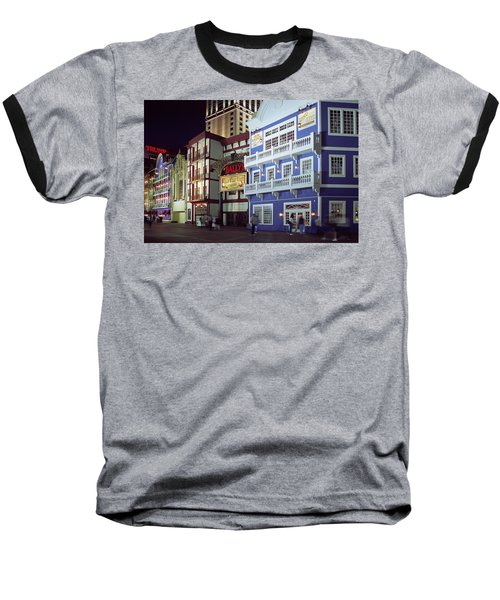 Baseball T-Shirt featuring the photograph Atlantic City Boardwalk At Night by Sally Weigand