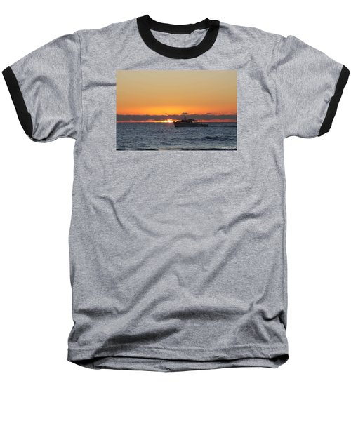 Atlantic Ocean Fishing At Sunrise Baseball T-Shirt