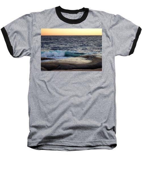 Atlantic Ocean, Nova Scotia Baseball T-Shirt by Heather Vopni