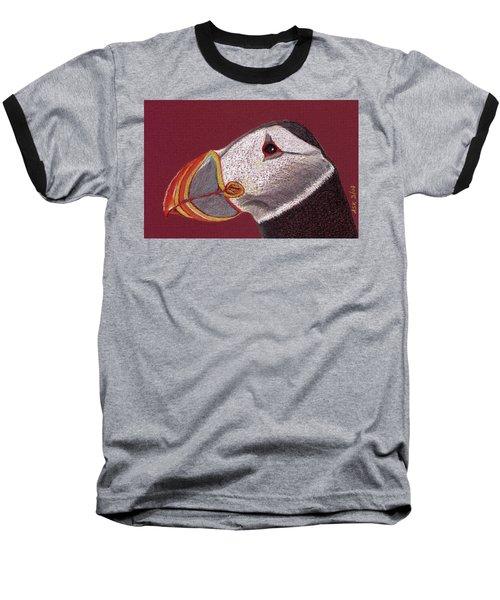 Atlantic Puffin Profile Baseball T-Shirt