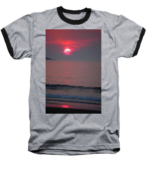 Atlantic Sunrise Baseball T-Shirt by Sumoflam Photography