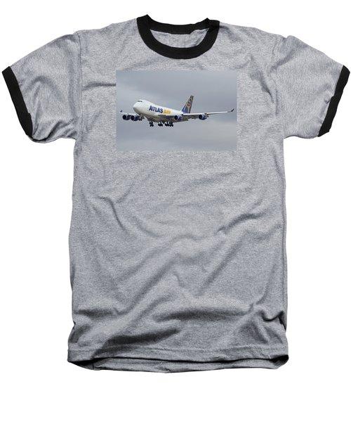 Atlas Air Boeing 747-47uf N415mc Phoenix Sky Harbor December 23 2015  Baseball T-Shirt by Brian Lockett