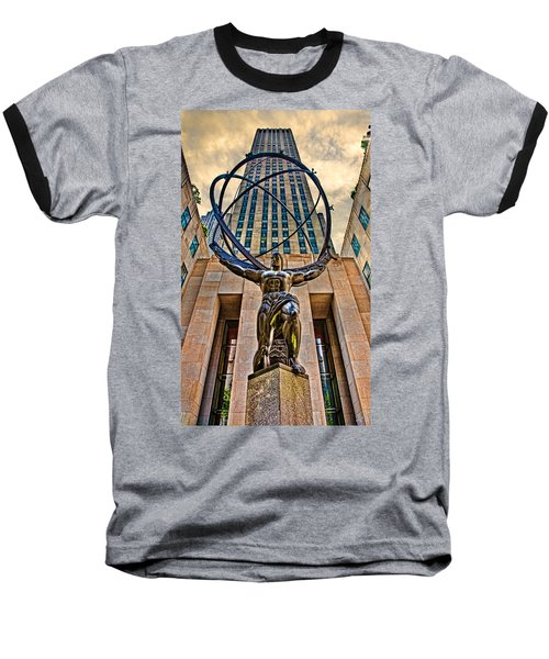 Atlas At The Rock Baseball T-Shirt