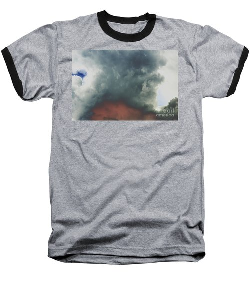 Atmospheric Combustion Baseball T-Shirt by Jesse Ciazza